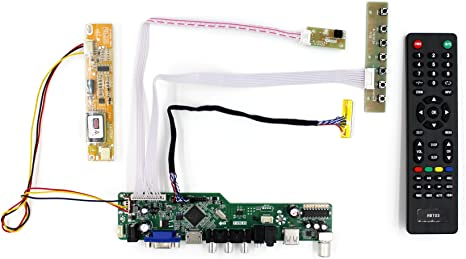 """LCD controller board DIY kit for 15.6/"""" 1366X768 CCFL LVDS 30pins B156XW01 panel"""