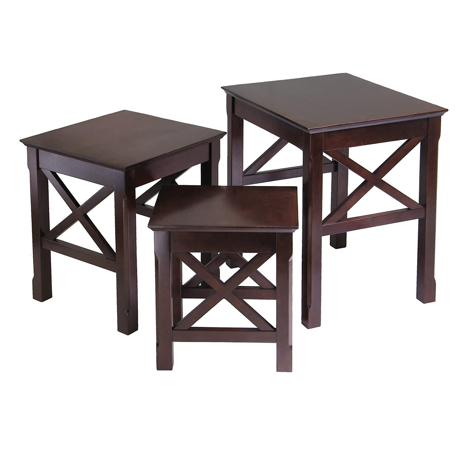 Amazon Winsome Wood Xola 3pc Nesting Table Kitchen & Dining