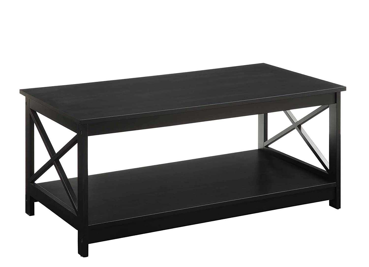 amazon com convenience concepts oxford coffee table black