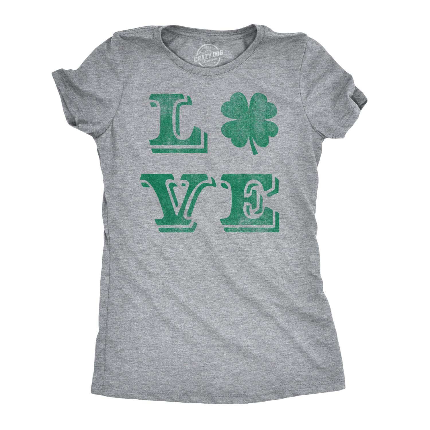 d3cd6702e Womens Love Lucky Clover Vintage Cute Irish Shamrock T Shirt for Ladies at  Amazon Women's Clothing store: