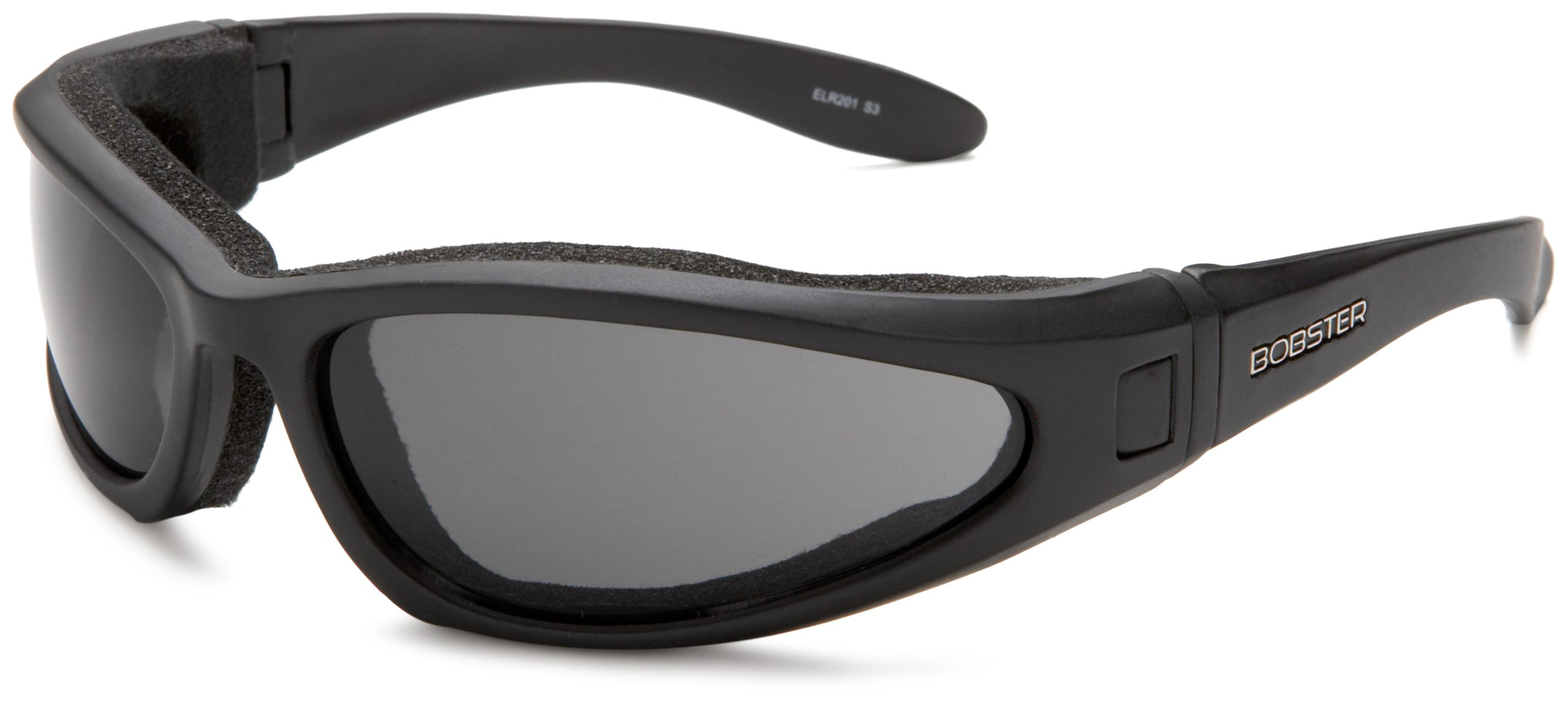 Bobster ELR201 Low Rider II Sport Sunglasses,Black Frame/3 Lenses (Smoked, Amber and Clear),one size