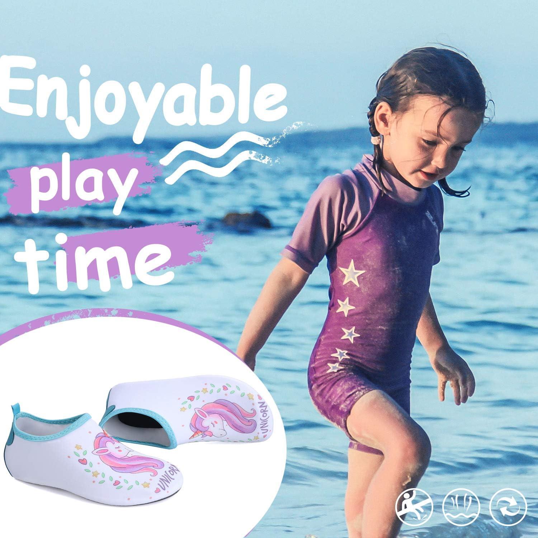 Swimming Pool Surfing Yoga Kkomforme Unisex Kids Water Shoes Swim Skin Shoes Non-Slip Quick Dry Barefoot Aqua Socks For Beach Exercise