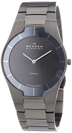 Skagen Mens 585XLTMXM Swiss Titanium Grey Watch