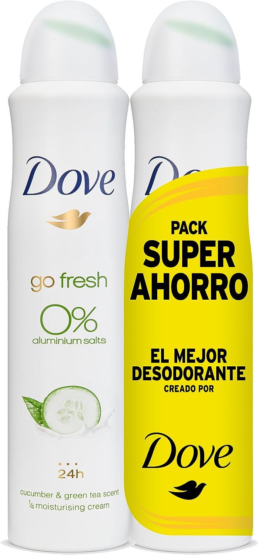 Dove - Pack Ahorro Desodorante Pepino 0% (2X200 ml): Amazon.es ...