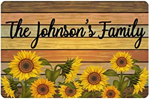 MyPhotoSwimsuits Custom Family Name Funny Doormat 24