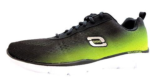 Skechers Equalizer This Way - Zapatillas de tela para hombre negro negro, color negro, talla 42: Amazon.es: Zapatos y complementos