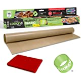 COOKINA Cuisine Reusable Baking Mat-100% Non-Stick, Easy to Clean Cooking Sheet for Gas, Electric, Toaster and Convection Ovens, Beige