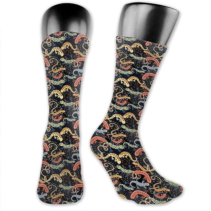 amazon com men women colorful salamander premium knee high socks