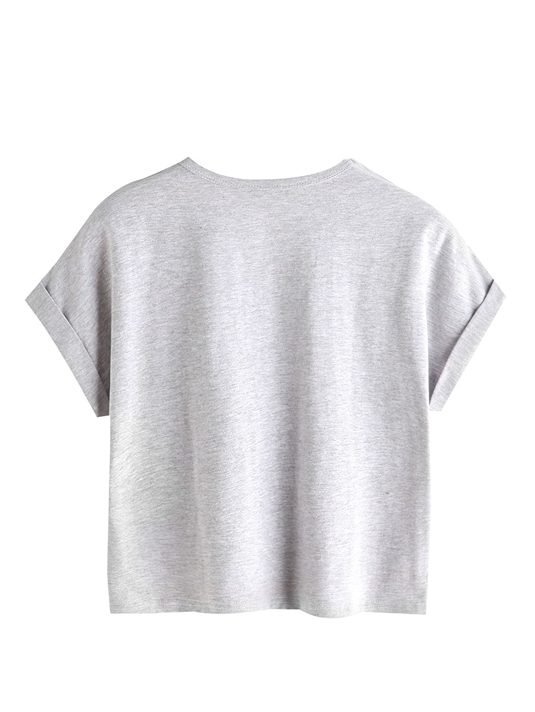 e5fcfde8227 SweatyRocks Women's Tie Dye Letter Print Crop Top T Shirt at Amazon Women's  Clothing store: