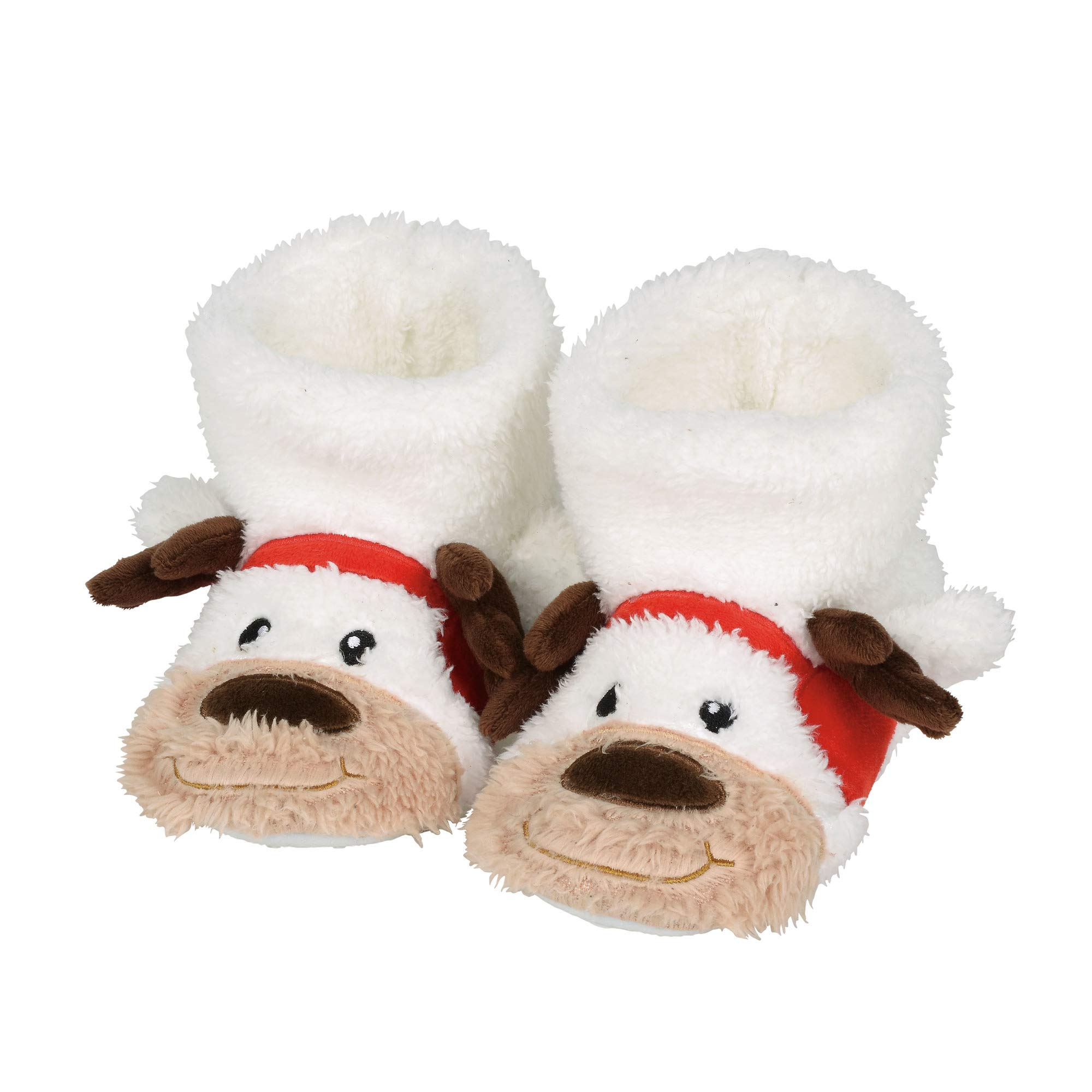 """Department 56 Snowpinions """"Reindeer Slippers, Child Size Small 7-8, Multicolor"""