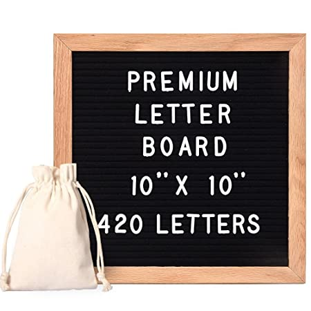StillCool Letter Board Letterboard Tablero de pizarra de madera y ...
