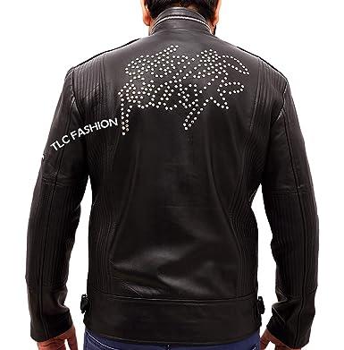 787a22dac TLCFashion Mens Daft Punk Electroma Jacket- Black Leather Jacket at ...