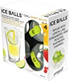 Prepara Ice Balls, Green and Black, Set of 4