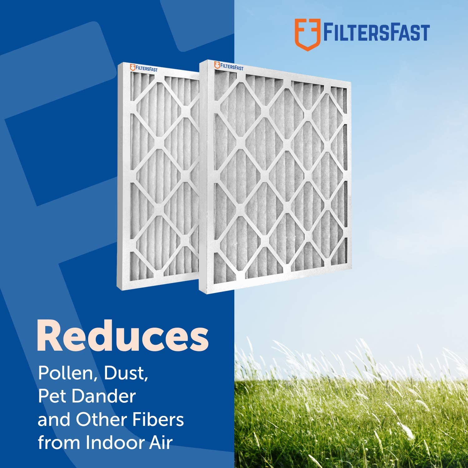 6 Pack Filters Fast 18x20x1 Pleated Air Filter Merv 11 Made in the USA 1 AC Furnace Air Filters Actual Size: 17.75x19.75x0.75/""