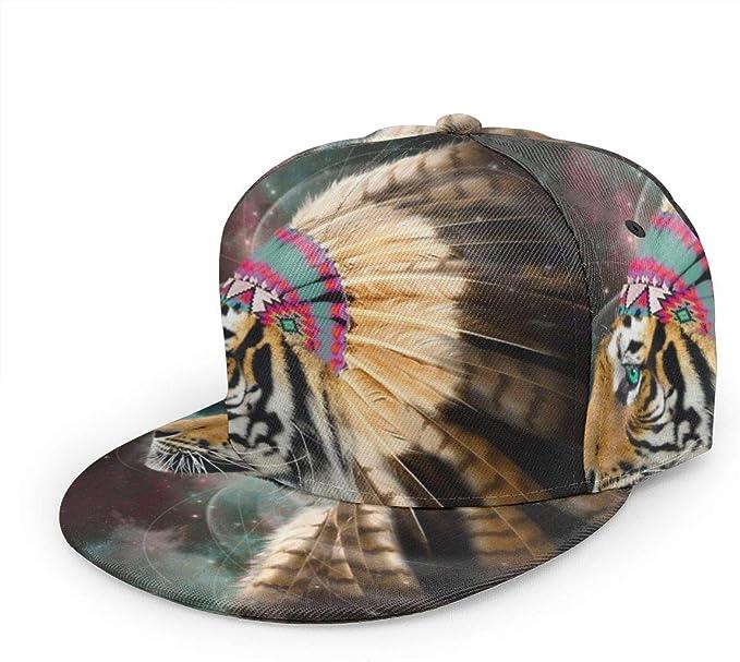 Gorra de béisbol con diseño de Tigre Indio y Plumas Unisex 3D Hip ...