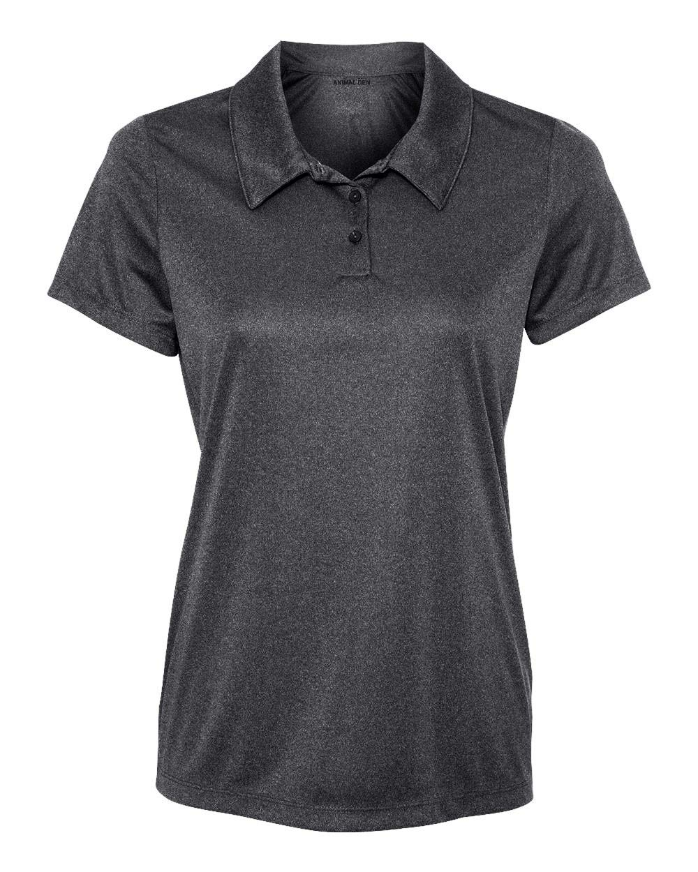Animal Den Women's Dry-Fit Golf Polo Shirts 3-Button Golf Polo's in 20 Colors XS-3XL Shirt DKGRHT-XS