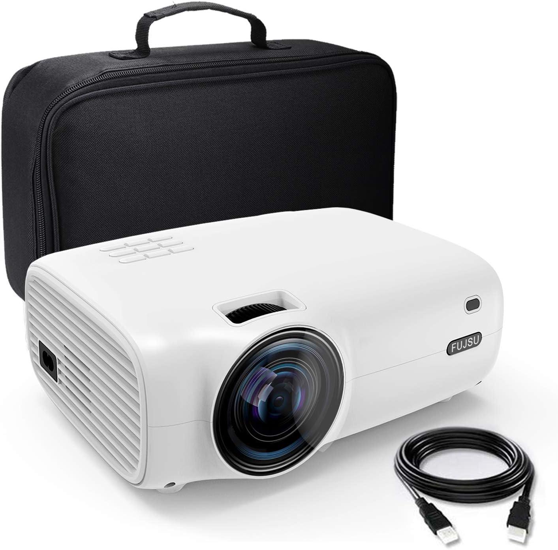 Waygoal Native 720P 5500 lumens Mini Proiettore 60000 ore LED compatibile con TV Stick//HDMI//iOS//Android//Laptop//TV Box//PS4//USB 1080P Full HD supporta Videoproiettore con Borsa Proiettore Portatile