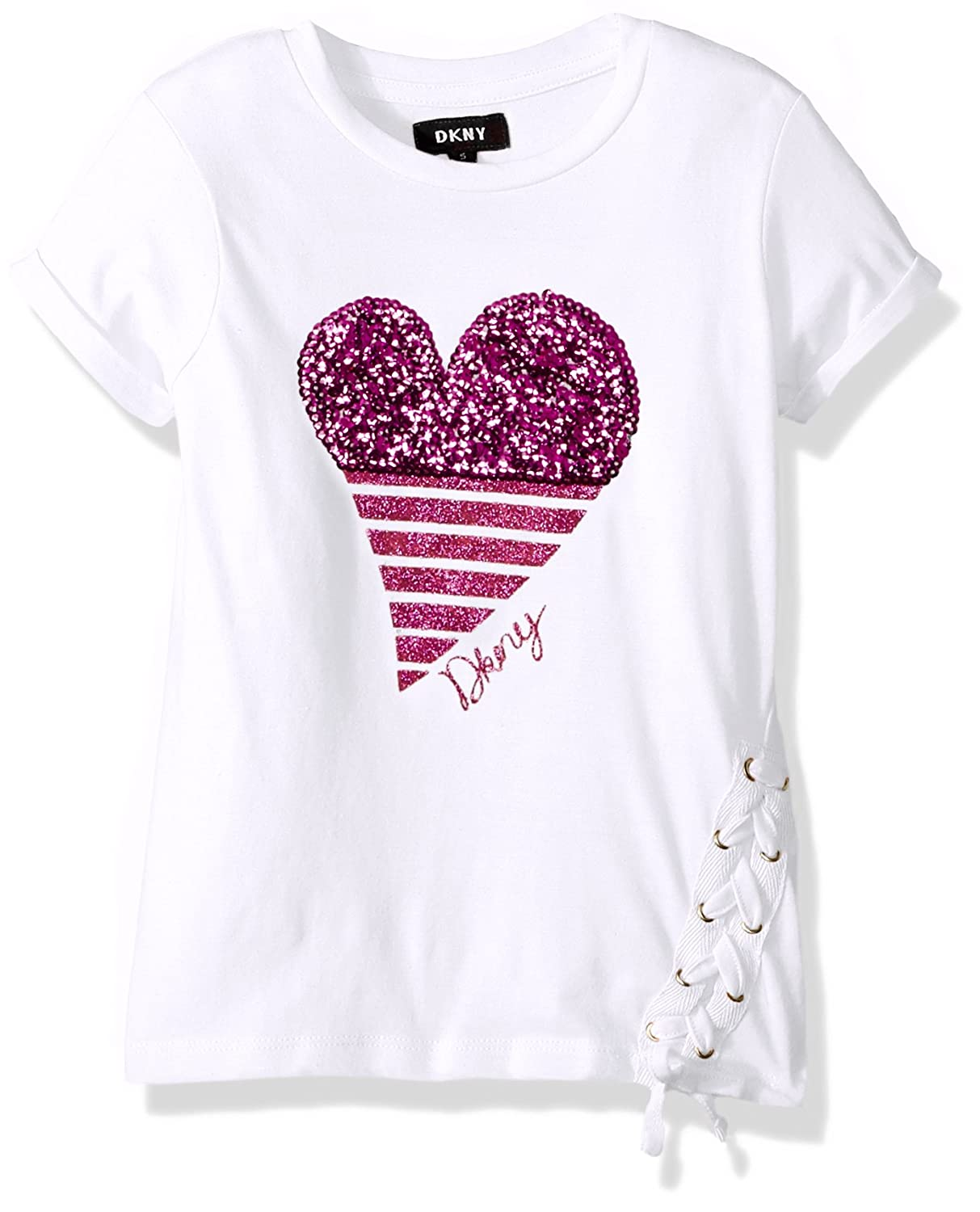 DKNY Girl's Short Sleeve T-Shirt