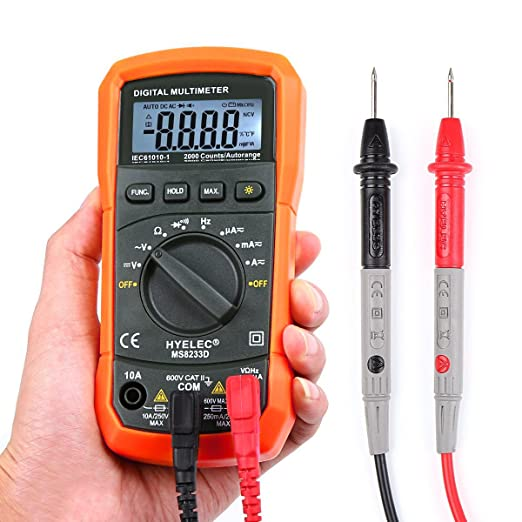 79 opinioni per Multimetro, Crenova MS8233D Auto Range Multimetro Digitale Rilevatore di AC DC