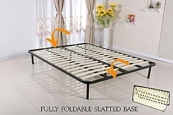 Modernique Slatted Folding Guest Bed Bed Base In Freestanding