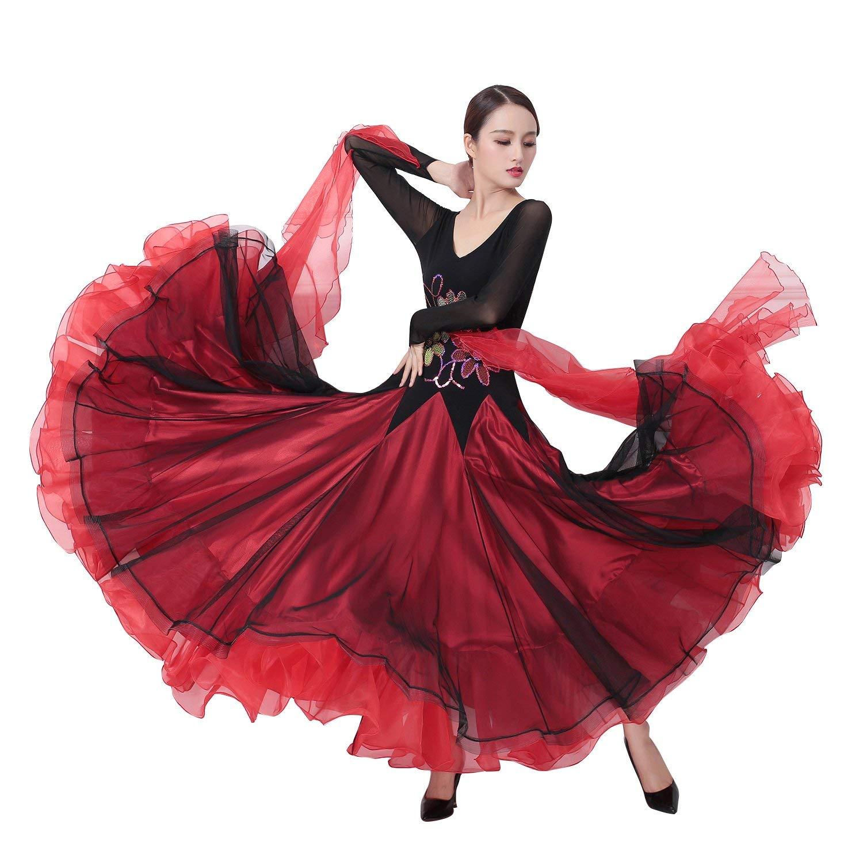 独特の上品 garuda 画面色,Small 社交ダンス衣装 競技ワンピース 社交ダンス衣装 レディースダンス高級ワルツドレス 競技ワンピース サイズオーダー可 B07PFDKH7X 画面色,Small, テニススタジオViva-T:91340f52 --- a0267596.xsph.ru