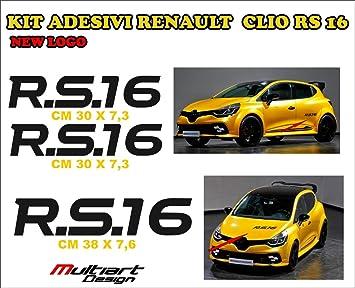 Kit 3 Aufkleber Sticker Für New Clio Rs 16 Trophy Renault