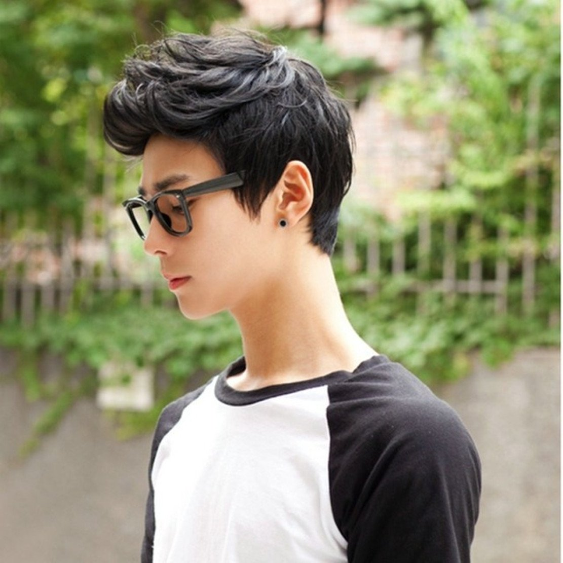 Tomorrow Lover® Handsome Sunshine Boys' Short Straight Layers Natural Hair /Daily Wigs Wig + Free Wig Cap (dark brown)
