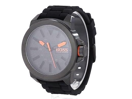 e3ae641c86ad BOSS Orange 1513004 Big Up Reloj negro de pantalla de cuarzo análoga para  hombre  Hugo Boss  Amazon.com.mx  Relojes