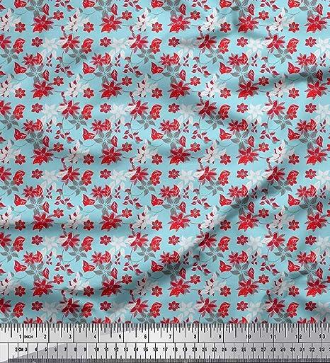 Soimoi Azul Batista De Algodón Tela alfabetos tela de camisa tela estampada de por metro 42 Pulgadas de ancho: Amazon.es: Hogar
