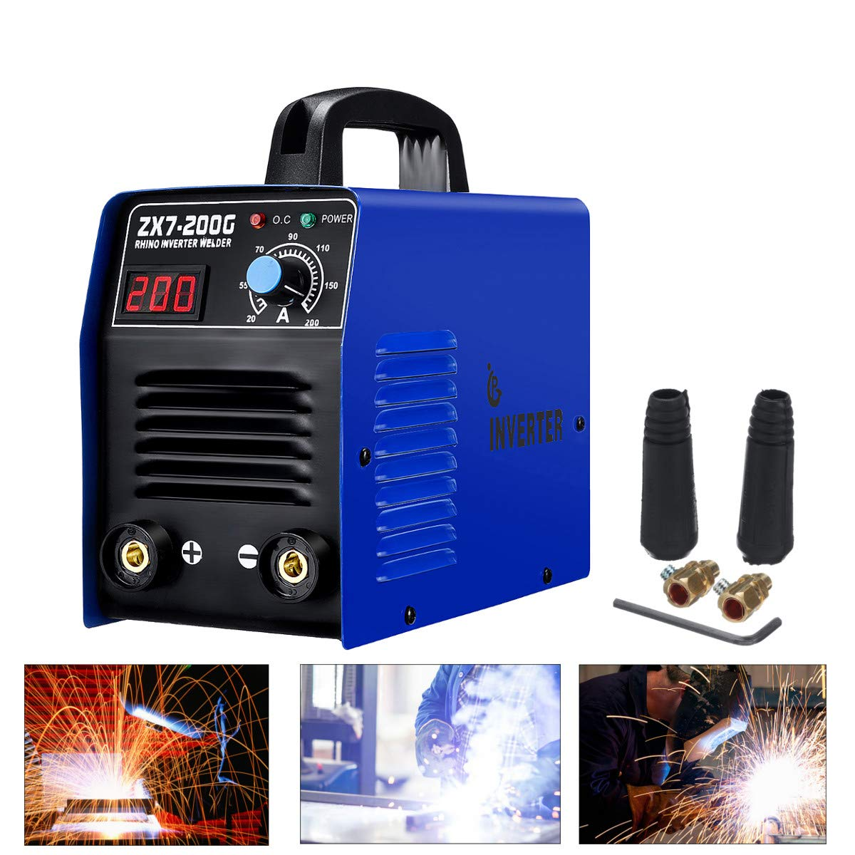 220V ZX7-200 LCD Handheld Electric IGBT Inverter MMA ARC Welding Machine