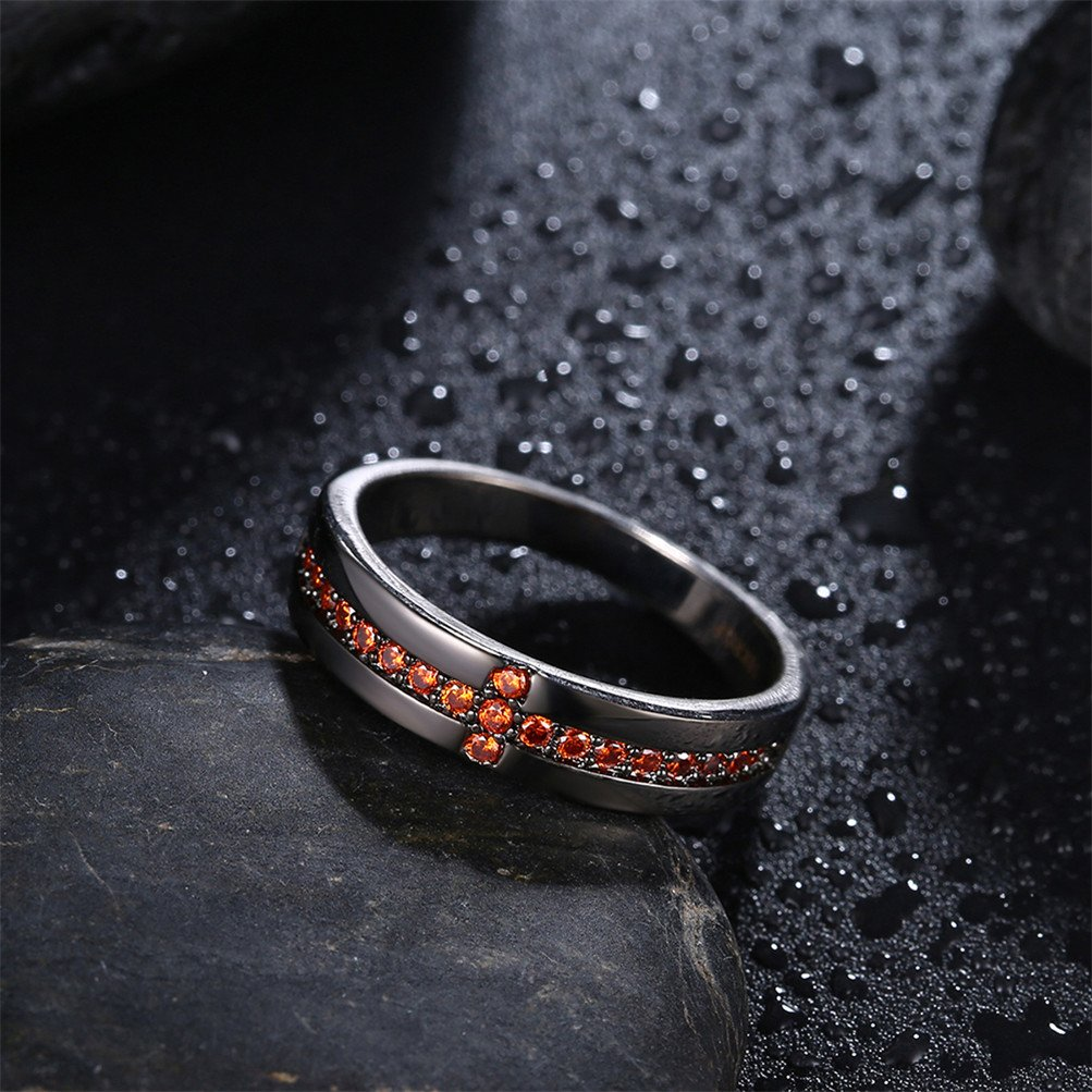 Black Infinity Love Knot Cross Christian Ring Wedding Band 18K Gold Plated Gift For Lover by Mrsrui (Image #4)