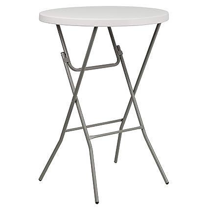 Amazon Com Flash Furniture 32 Round Granite White Plastic