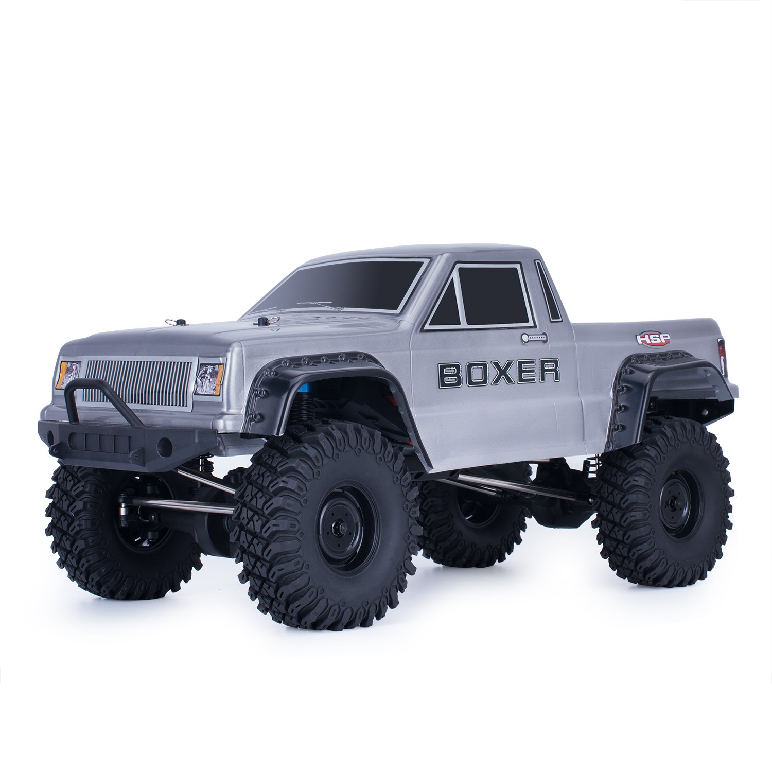 HSP RC Crawlers RTR 1/10 Scale 4wd Off Road Monster Truck Rock Crawler 4x4 High Speed Waterproof rc Truck (Silver)