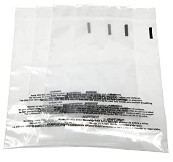Pack of 100 Secure Seal 10x13 Suffocation Warning Clear FBA Bags Self-Sealing//Resealable