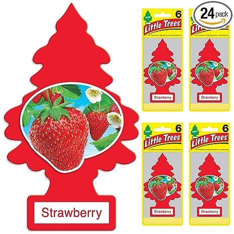 000270b23 Amazon.com: LITTLE TREES auto air freshener, Strawberry, 6-packs (4 ...