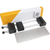 Schaaf Tools 400/1000 Grit Diamond Sharpening Stone | 8 x 3 Inches | Universal Base | eBook Included