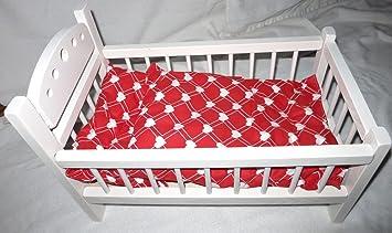 Puppenetagenbett Weiß : Abatoys puppenbett weiß mit herzchen bettwäsche amazon spielzeug