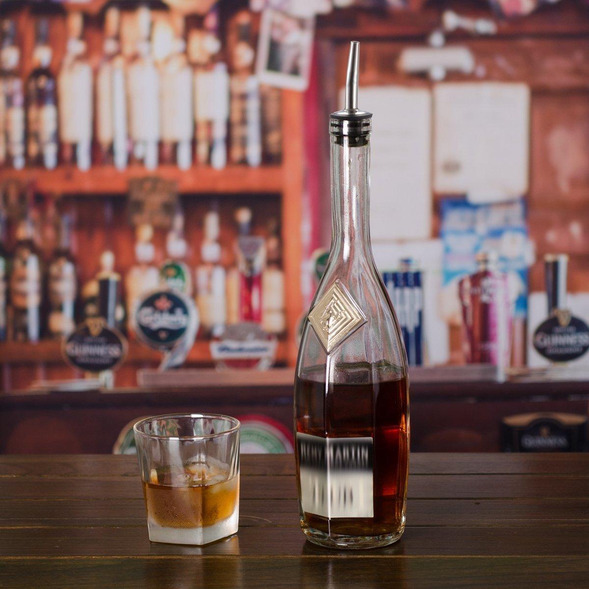 versatori di velocit/à beccuccio Conico per Bottiglia di Olio MINGZE 7 Pezzi Acciaio Inossidabile Tappi per Bottiglie di Vino Versatori con Tappi Antipolvere in Gomma beccuccio per liquore