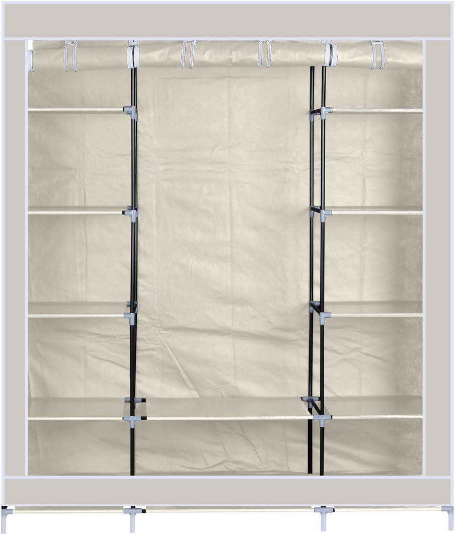 Armario de Tela Tres Puertas Acabado en Color Beige, Medidas: 150 x 175 x 45 cm: Amazon.es: Juguetes y juegos