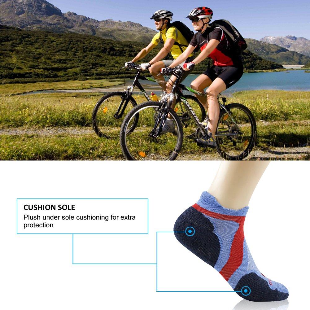 No Show Running Socks ZEAL WOOD Unisex Merino Wool Ankle Athletic Socks,1//3 Pairs