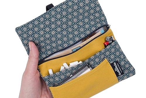 Tabaquera de tela japonesa - Funda Pitillera para tabaco de liar: Amazon.es: Handmade