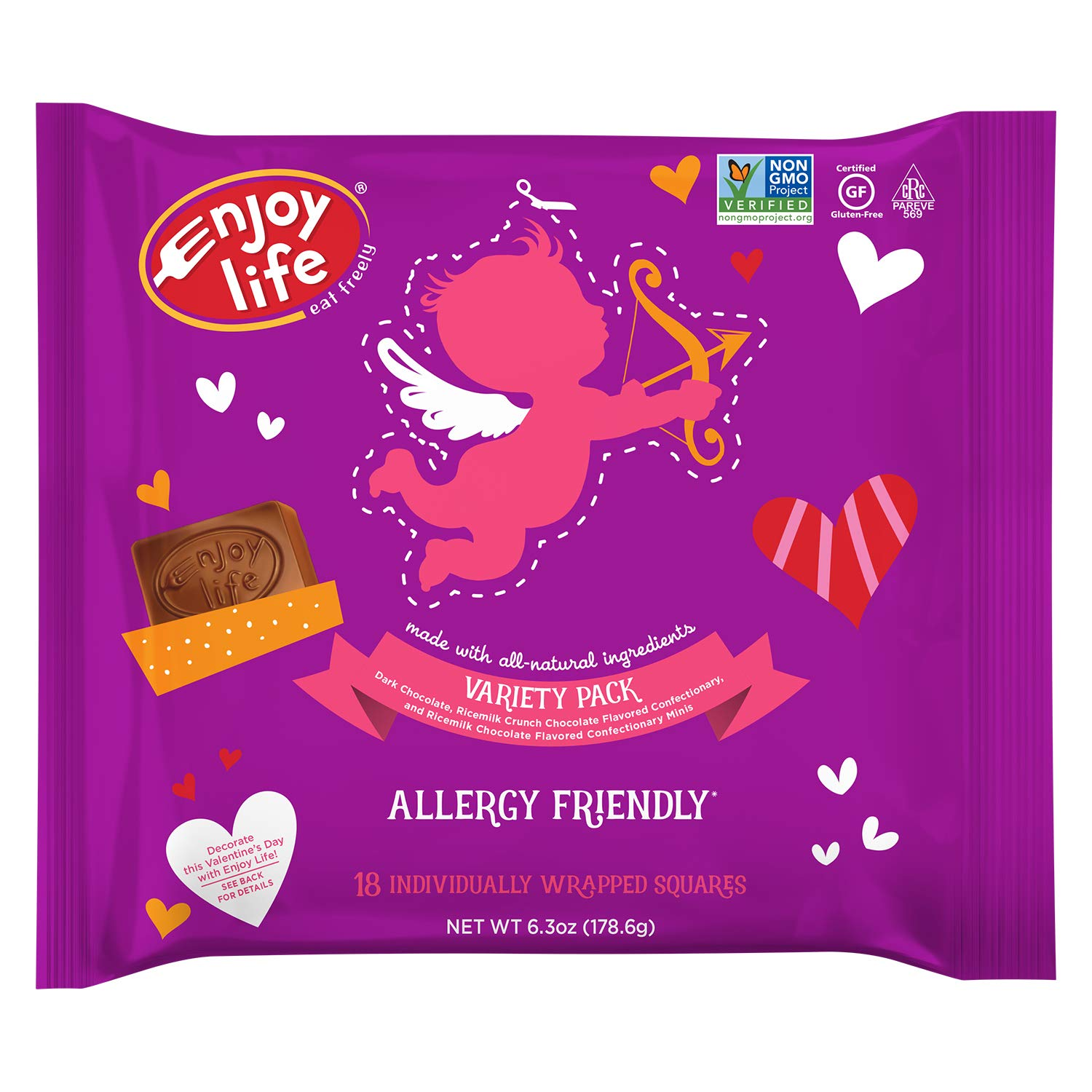Enjoy Life Chocolate Valentine's Candy Minis Variety Pack, 4 Count by Enjoy Life Foods