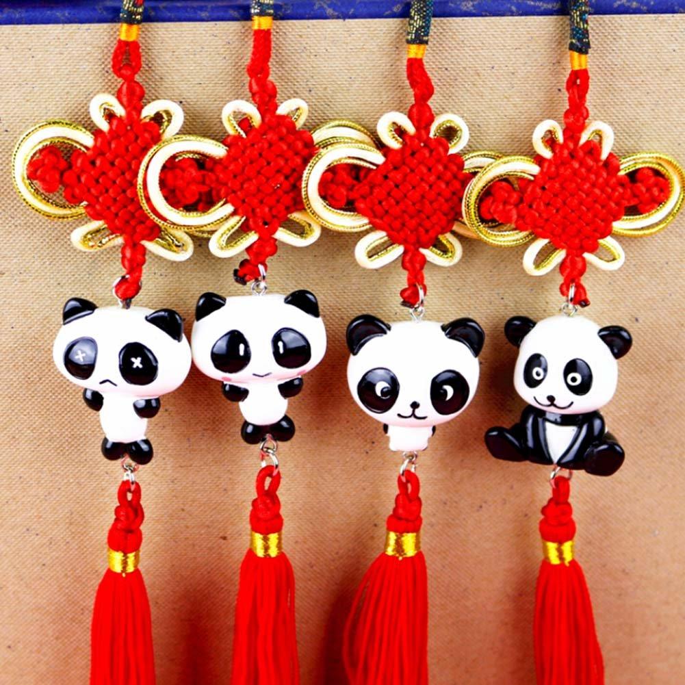 C Creative noeud chinois Tassel Panda D/écor Accrochez pour la voiture