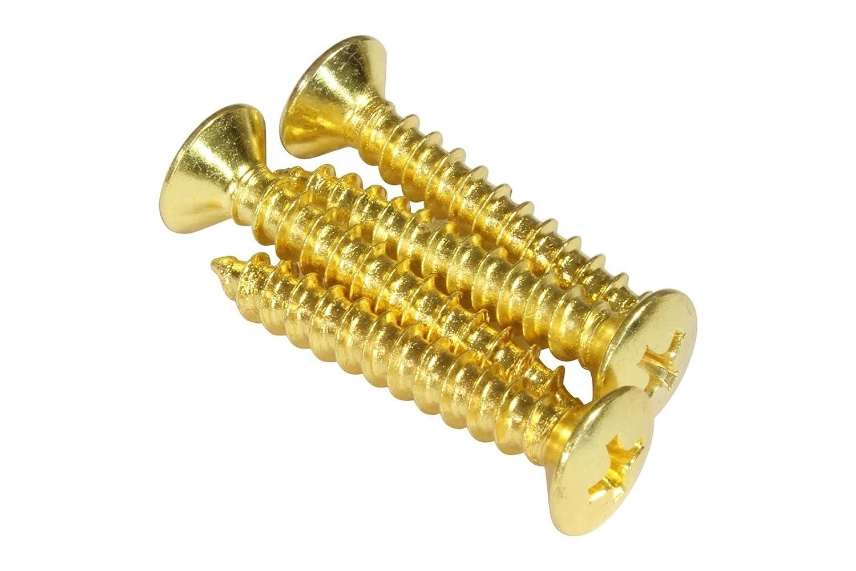 bangdan Guitar Neck Plate Screws, 4pcs #10 x 1 1/4 Gold 4pcs #10 x 1 1/4 Gold bangdan music tt58