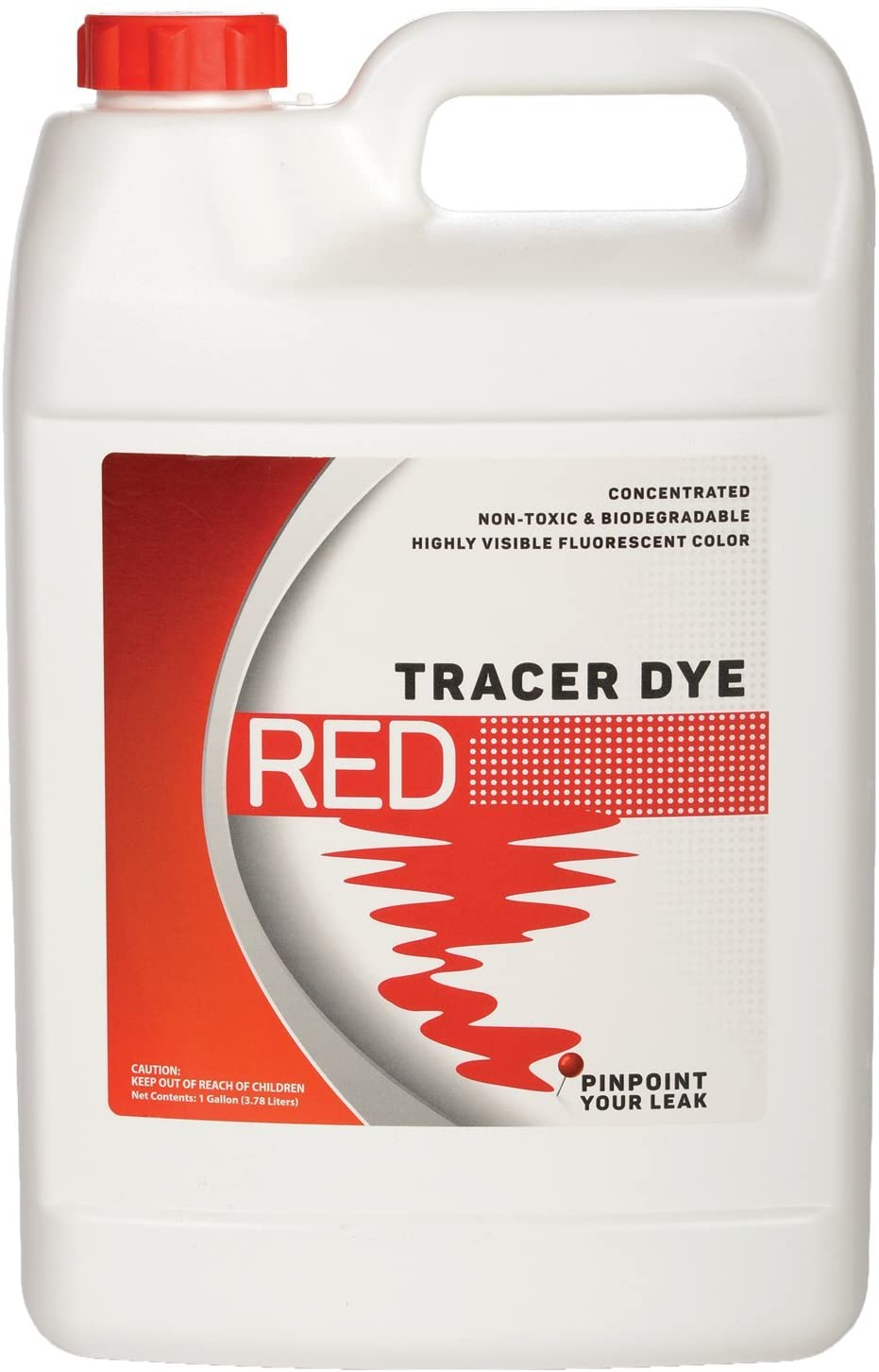 Bluewater Chemgroup Concentrated Red Tracer Dye - One Gallon (128 Ounces)