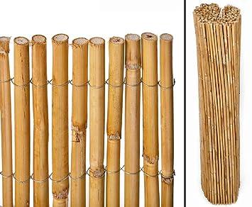 Berg Bambusmatte Als Balkonverkleidung Mit 100cm Sichtschutzmatten