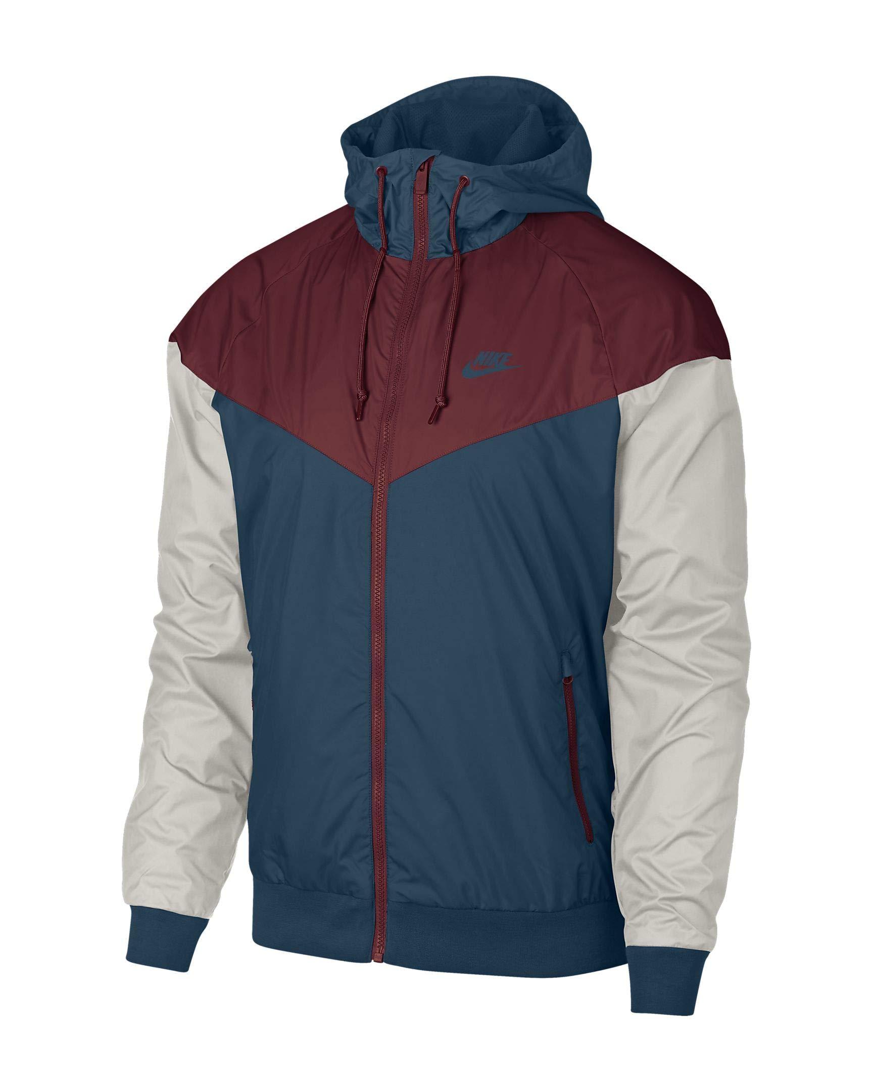 45bca0484 Galleon - Nike Sportswear Windrunner Jacket (Blue Force/Team Red/Light  Bone, M)