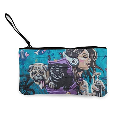 New Pug Dog Genuine Leather Purse Coin Wallet Handbag Handmade Animal Cute Gift