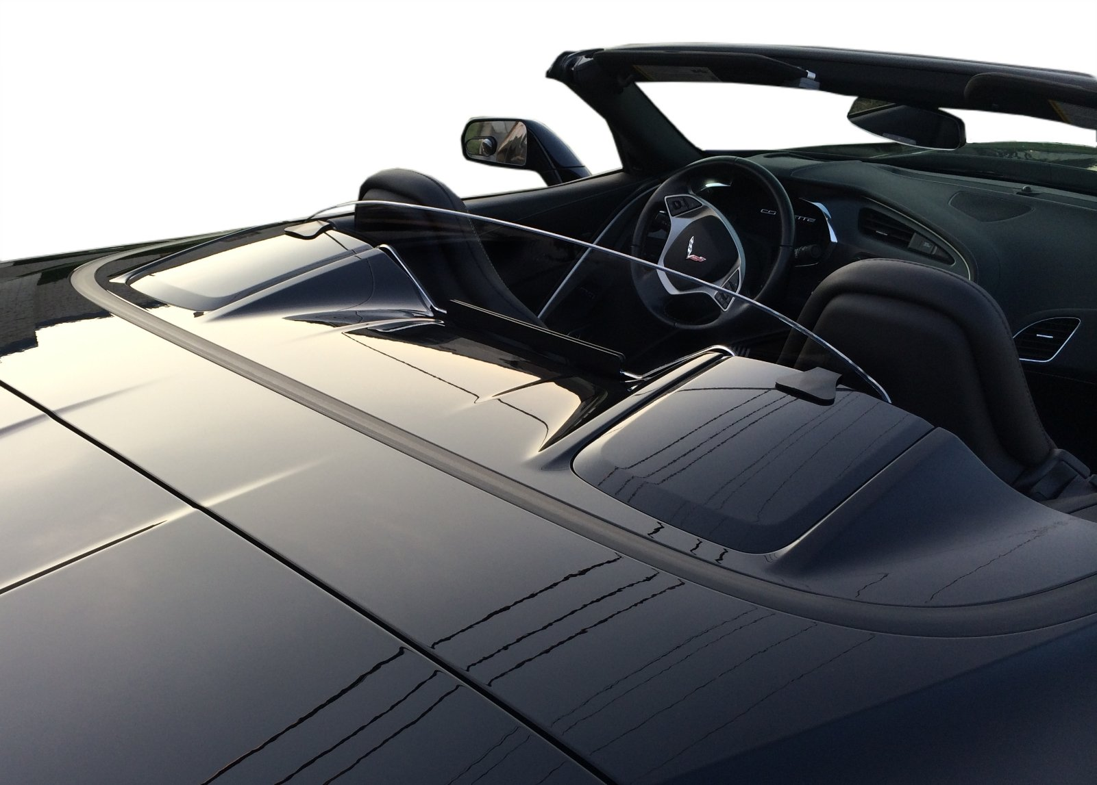 WindRestrictor Convertible Wind Deflector Compatible with 2014-2018 Chevrolet C7 Corvette Stingray - Control air flow, cut down backdraft, wind noise - Patented - Easy Install, Secure Mounting - Clear