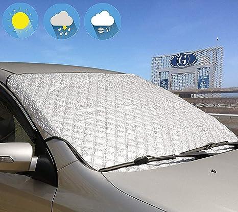 Coche Parabrisas Cubierta De Nieve Helada Hielo Escudo Protector De Polvo Invierno Parasol